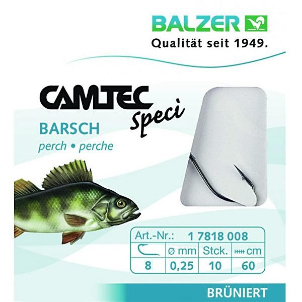 Крючок с поводком  Balzer Camtec окуневый №8  10шт.