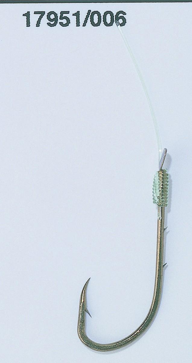 Крючок с поводком  Balzer Camtec на червя №6  10шт.